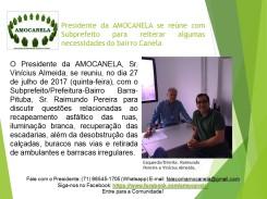 Presidente da AMOCANELA se reúne com Subprefeito 2