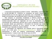 (RE)CADASTRAMENTO ASSOCIADOS AMOCANELA