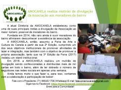 AMOCANELA realiza mutirão de divulgação da Associação aos moradores do bairro